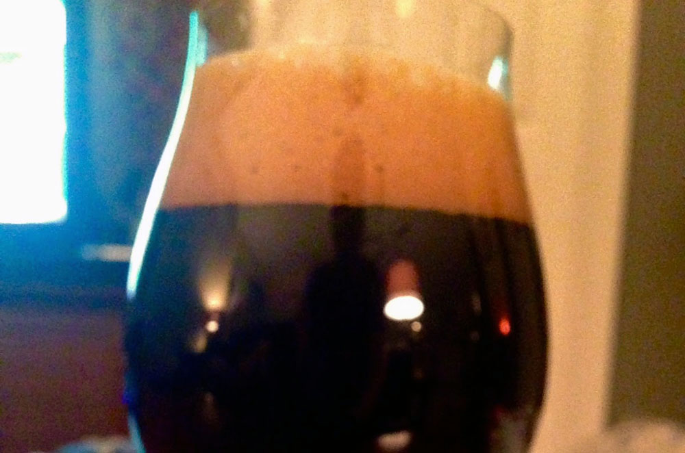 finished oatmeal milk stout
