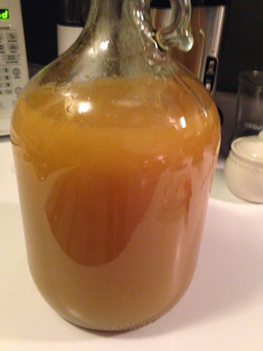 sour cider mixed and pitched